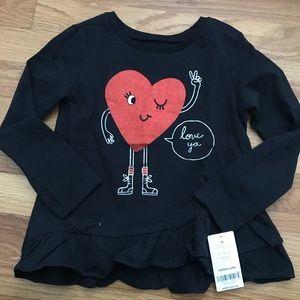 Carters long sleeve love ya t-shirt